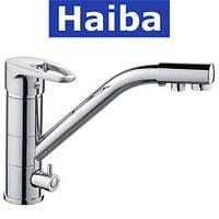 Смеситель для кухни елка с дополнительным краном HAIBA Ceba (Chr-021)
