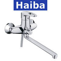Смеситель для ванны длинный нос HAIBA CEBA EURO (Chr-006)