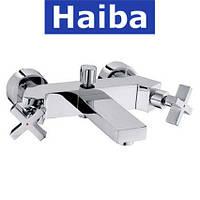 Смеситель для ванны короткий нос HAIBA BERGUS (Chr-009)