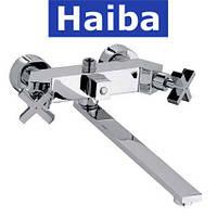 Смеситель для ванны длинный нос HAIBA BERGUS U EURO (Chr-006)