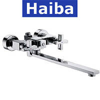 Смеситель для ванны длинный нос HAIBA BERGUS EURO (Chr-006)