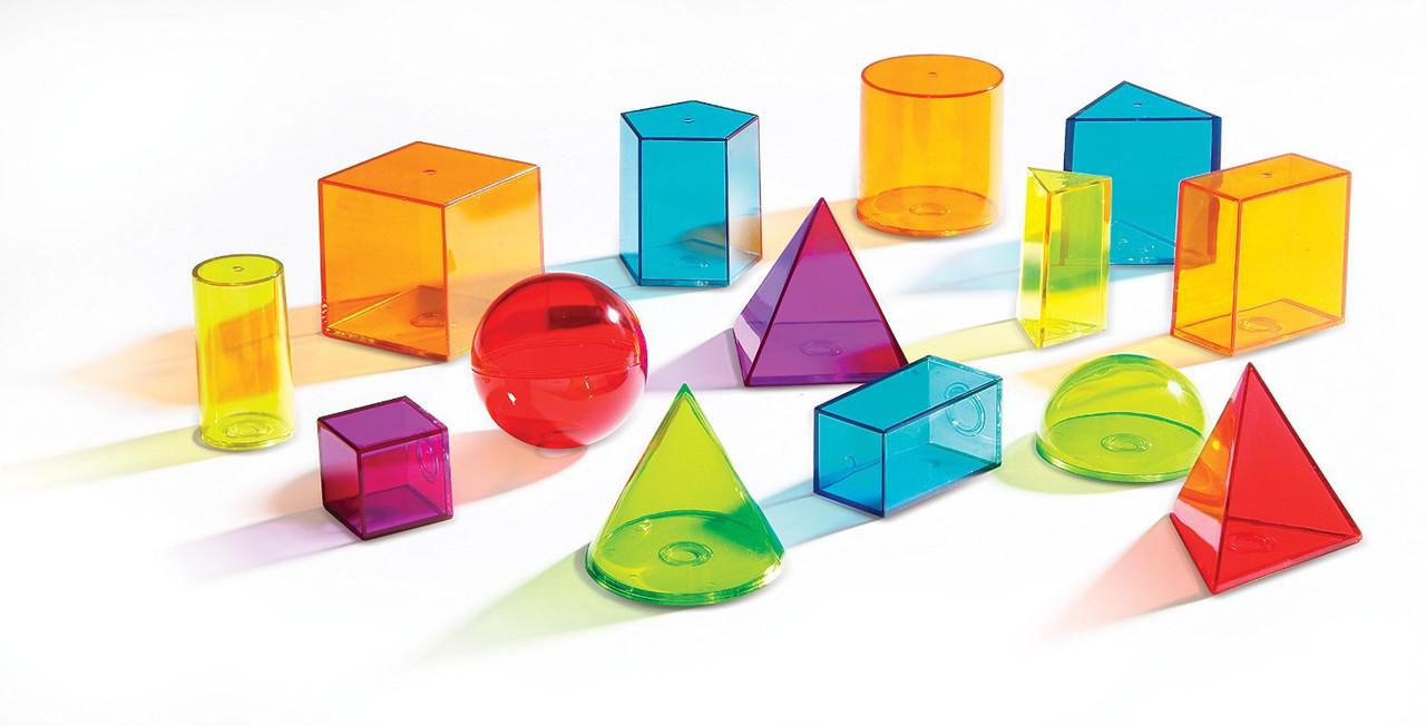 Набір геометричних фігур Learning Resources View-Thru Geometric Solids
