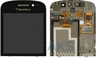 Дисплей (экраны) для телефона Blackberry Q10 + Touchscreen with frame Original Black
