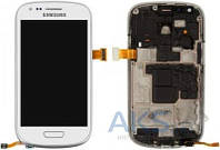 Дисплей (экран) для телефона Samsung Galaxy S3 mini I8190 + Touchscreen with frame Original White