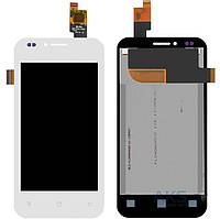 Дисплей (экран) для телефона Fly IQ442 Quad Miracle 2 + Touchscreen Original White