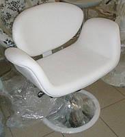 Кресло Студио с регулировкой высоты и наклона белая искусственная кожа