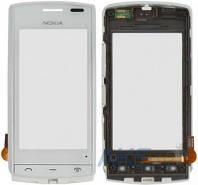 Сенсор (тачскрин) для Nokia 500 with frame Original White