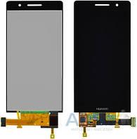 Дисплей (экран) для телефона Huawei Ascend P6-U06 + Touchscreen Original Black