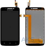 Дисплей (экраны) для телефона Lenovo S650, S658 + Touchscreen Original Black