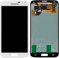 Дисплей (экраны) для телефона Samsung Galaxy S5 Duos G900F, Galaxy S5 G900H + Touchscreen Original White