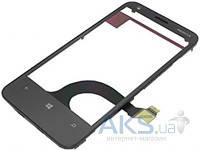 Сенсор (тачскрин) для Nokia Lumia 620 with frame Original Black