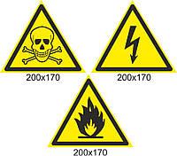 """Комплект табличек """"Предупреждающие знаки"""""""