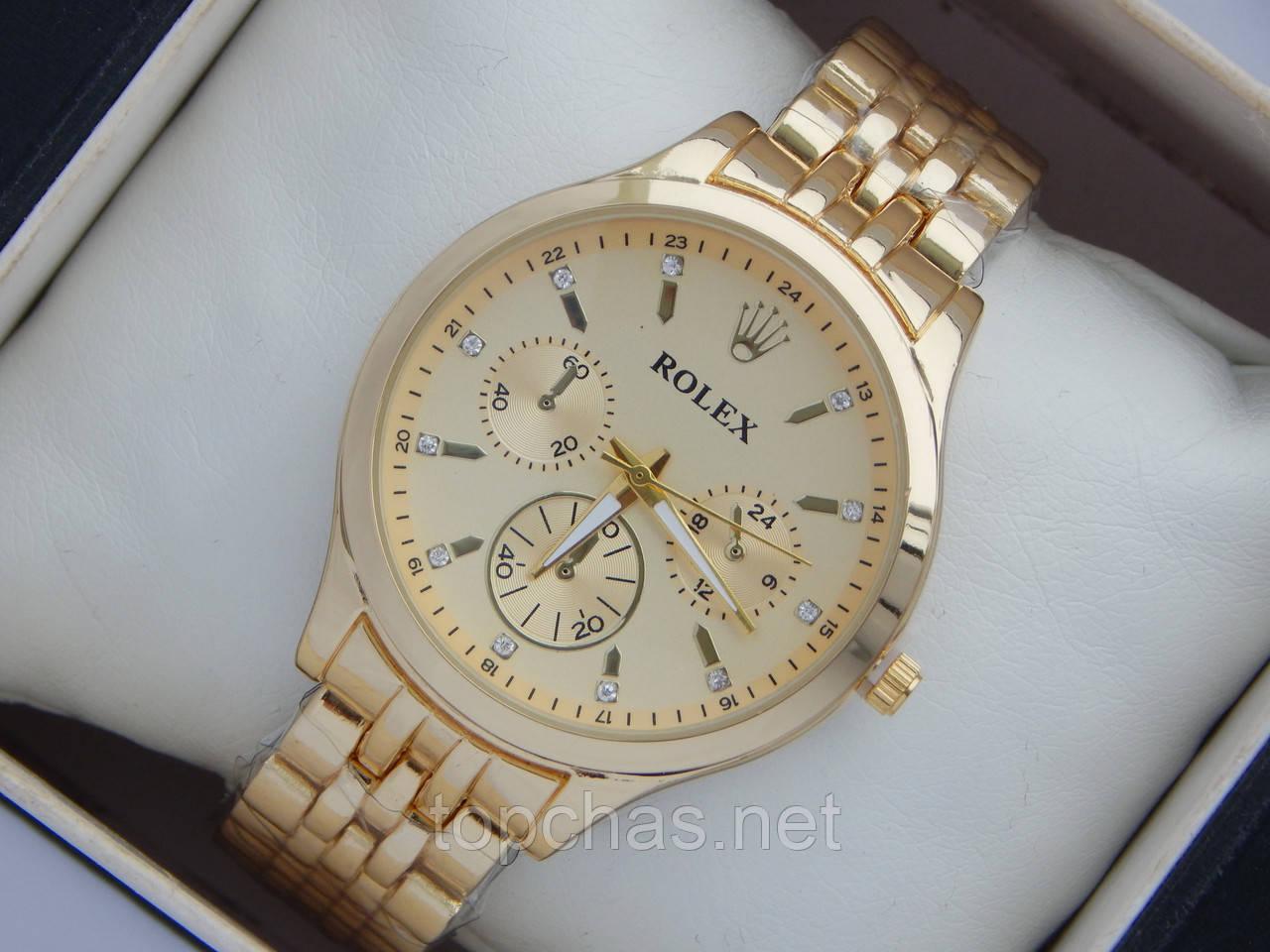 b43d803c Очень красивые женские часы Rolex на металлическом браслете золотого цвета  - Top Chas - Интернет магазин