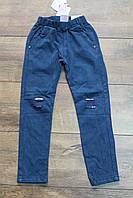 Брюки для девочек ( джинсовый- трикотаж)  4 года