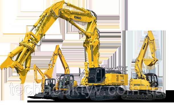 Основная специализация Kobelco Construction Machinery — разработка и выпуск машин и механизмов для строительной, горной и дорожно-строительной отраслей:   гидравлические гусеничные экскаваторы (массой от 0,95 до 48 тонн),  мини-экскаваторы (от 0, 95 до 8,0 тонн),  гидравлические пневмоколёсные краны (г/п до 51 т),  гусеничные краны с решетчатыми стрелами (г/п до 800 т).