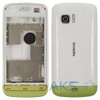 Корпус Nokia C5-06 White с зеленой накладкой