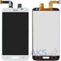 Дисплей (экраны) для телефона LG L70 D320, L70 D321, L70 MS323 + Touchscreen White