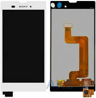 Дисплей (экран) для телефона Sony Xperia T3 D5102, Xperia T3 D5103, Xperia T3 D5106 + Touchscreen Original White