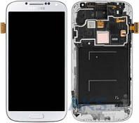 Дисплей (экран) для телефона Samsung Galaxy S4 I9505 + Touchscreen with frame Original White