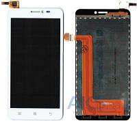 Дисплей (экран) для телефона Lenovo S850 + Touchscreen Original White