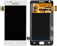 Дисплей (экран) для телефона Samsung Galaxy S2 I9100 + Touchscrееn Original White