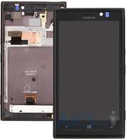 Дисплей (экран) для телефона Nokia Lumia 925 + Touchscreen with frame Original Black