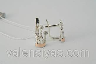 Комплект украшений в форме короны из серебра 925*, фото 2