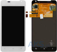 Дисплей (экран) для телефона HTC One J Z321e + Touchscreen White