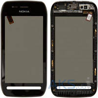 Сенсор (тачскрин) для Nokia 603 with frame Original Black