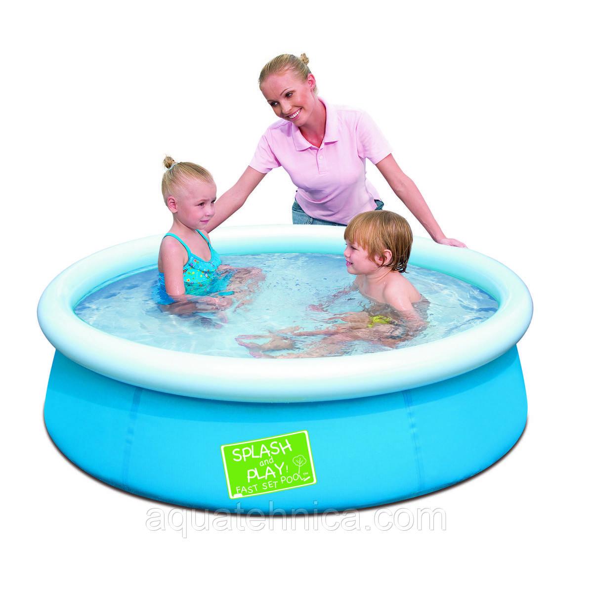 Бассейн детский надувной цветной BestWay 152 см х 38 см