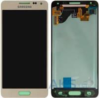 Дисплей (экран) для телефона Samsung Galaxy Alpha G850F + Touchscreen Gold