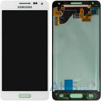 Дисплей (экран) для телефона Samsung Galaxy Alpha G850F + Touchscreen White