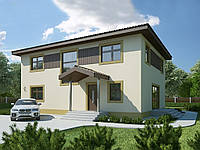 Проект двухэтажного дома Hd 54-1