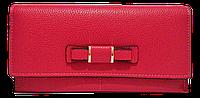 Интересный женский кошелек с бантом красного цвета BVB-090093