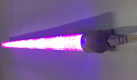 Светодиодный фитосветильник Т8-2835-0.6FS 9W IP20 линейный  (fito spectrum led) Код.58831, фото 2