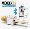 Караоке Микрофон Bluetooth Беспроводной со встроенными динамиками MICGEEK Q9 (USB + AUX + SD)