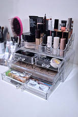 Косметичка Makeup Cosmetics Organizer Drawers Grids Display Storage Clear Acrylic, фото 3
