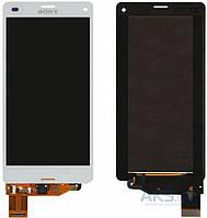 Дисплей (экран) для телефона Sony Xperia Z3 Compact D5803, Xperia Z3 Compact D5833 + Touchscreen Original White