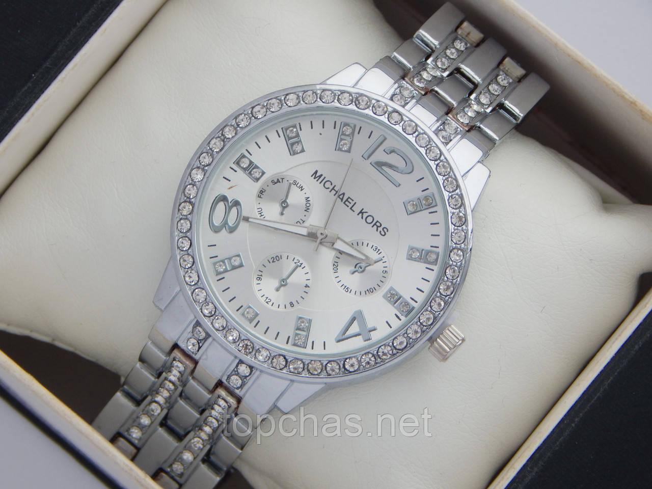 e8281c6d9fe5 Стильные женские часы Michael Kors с большим количеством страз - Top Chas -  Интернет магазин Вашего