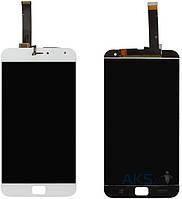 Дисплей (экран) для телефона Meizu MX4 Pro + Touchscreen Original White