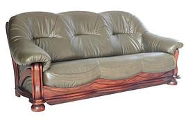 """3х місний розкладний шкіряний диван """"Diaz"""" (Діаз). (210 см)"""
