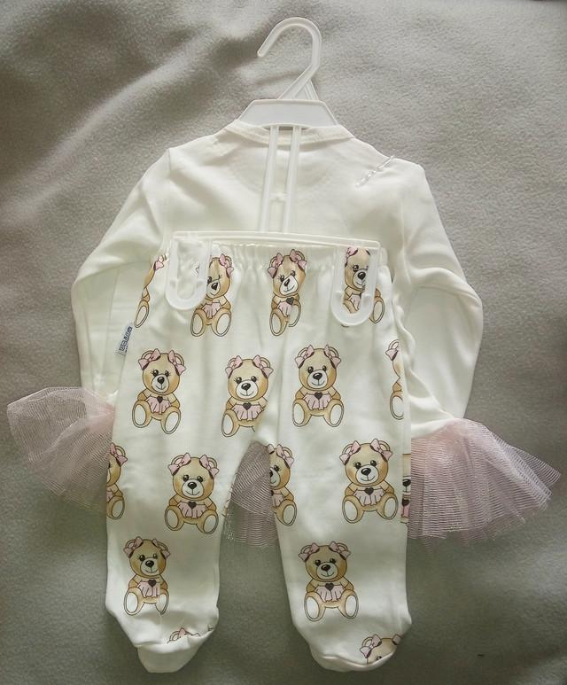 Трикотажный костюм для новорожденных девочек 0-9 мес, Турция, оптом-2