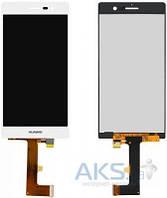 Дисплей (экран) для телефона Huawei Ascend P7 + Touchscreen White