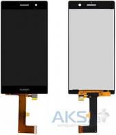 Дисплей (экран) для телефона Huawei Ascend P7 + Touchscreen Original Black