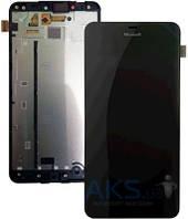 Дисплей (экраны) для телефона Microsoft Lumia 640 + Touchscreen with frame Original Black
