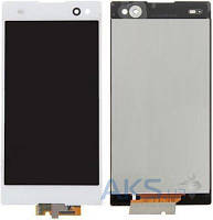 Дисплей (экран) для телефона Sony Xperia C3 Dual D2502, Xperia C3 Dual D2533 + Touchscreen White