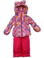 """Демисезонный костюм для девочек """"Ноль"""" модель  """"Кроха Бант"""" Розовая галактика"""