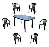 Комплект пластиковой мебели Faro 6 зеленый