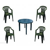 Комплект мебели Tondo green (кресло Altea - 4 шт, стол Tondo - 1 шт)