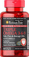 Puritan's Pride Triple OMEGA 3-6-9 60 Softgels
